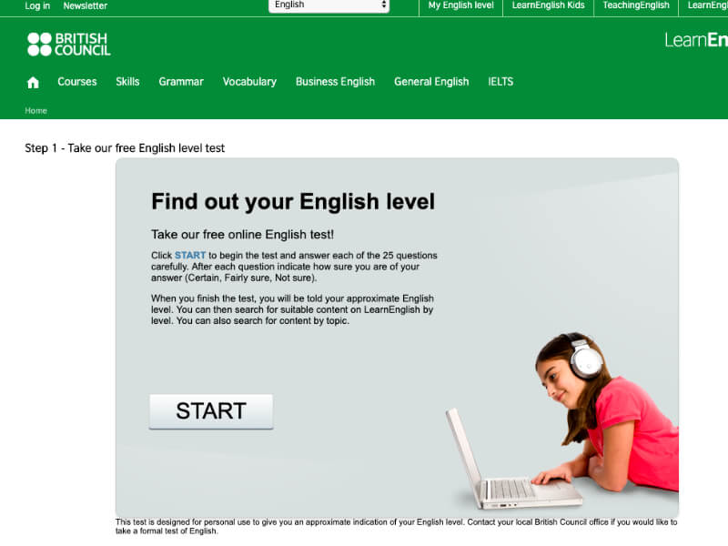 BBCが提供している無料の英語力診断ツール
