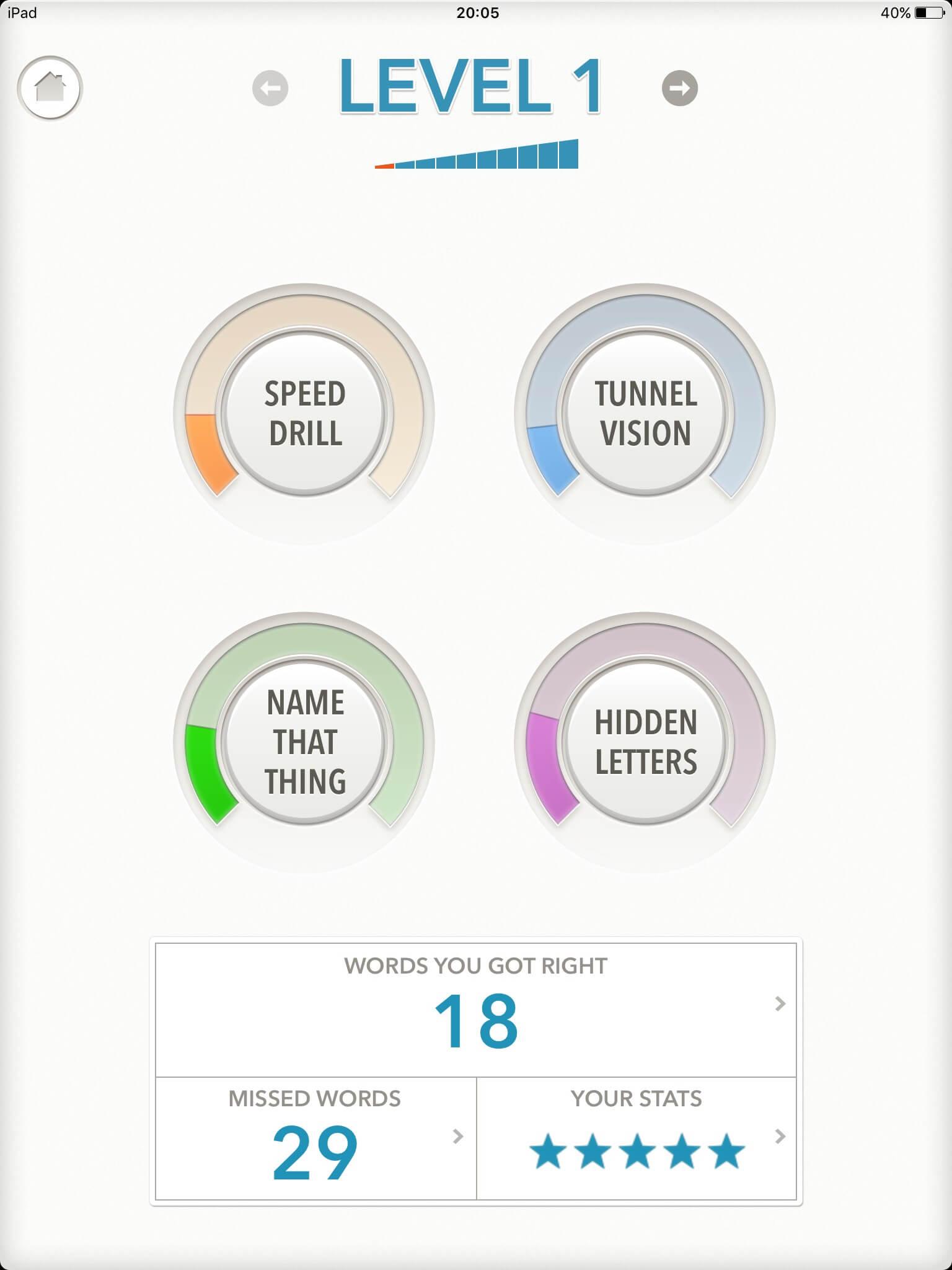 語彙力を伸ばすのにオススメのIOSアプリ「 Quizzitive」|スクリーンショット01