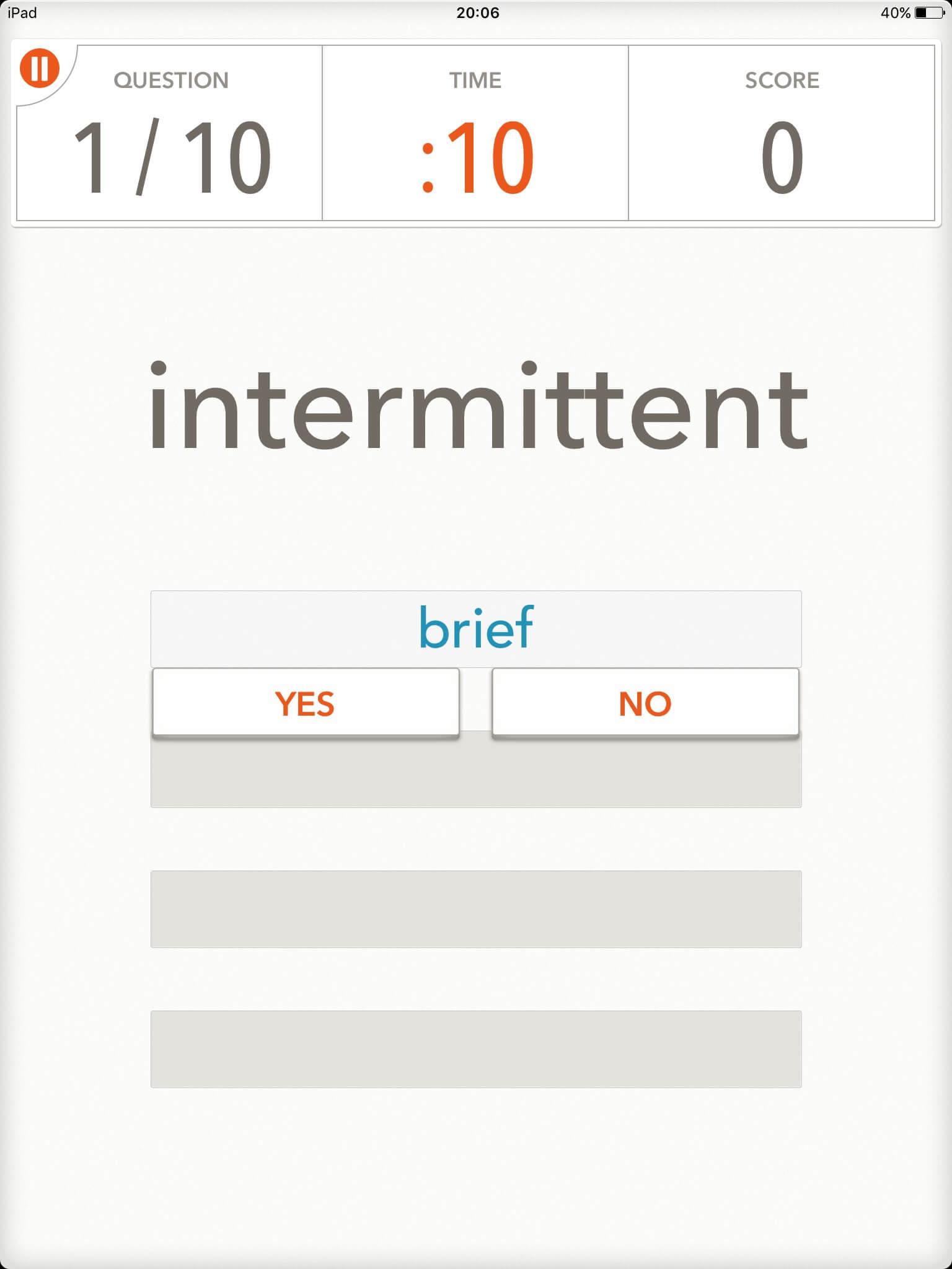 語彙力を伸ばすのにオススメのIOSアプリ「 Quizzitive」|スクリーンショット04