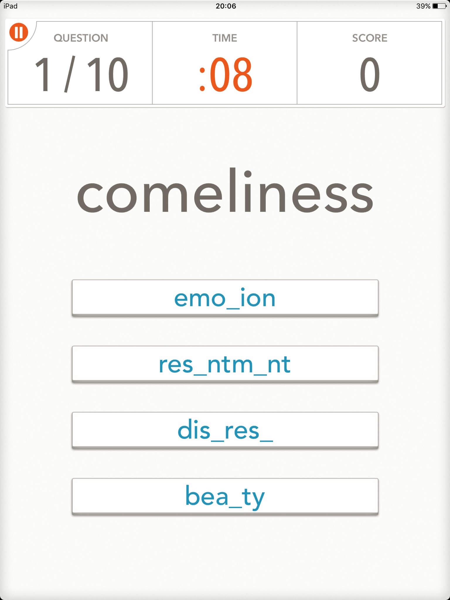 語彙力を伸ばすのにオススメのIOSアプリ「 Quizzitive」|スクリーンショット02