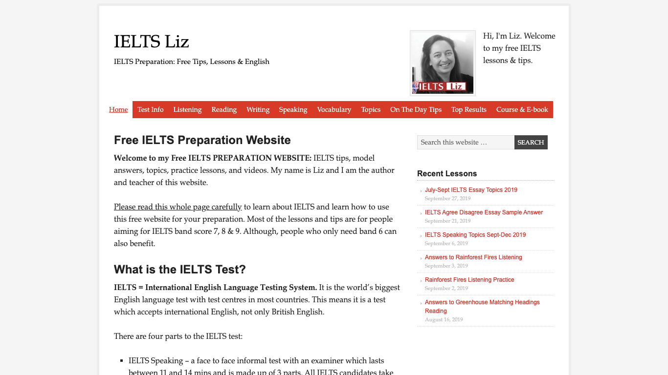 IELTS対策にオススメのサイト「IELTS Liz」