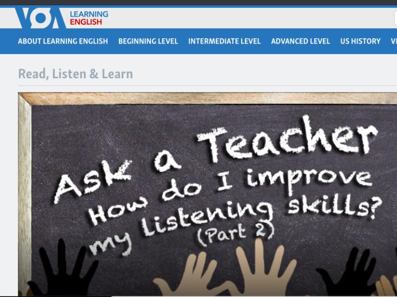 VOA Learning Englishのスクリーンショット